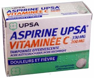 Aspirine UPSA Vitaminée C Tamponnée effervescente