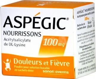 Aspégic nourrissons 100 mg