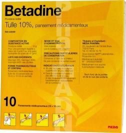 Bétadine tulle 10 %