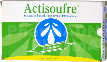Actisoufre 4 mg/50 mg par 10 ml