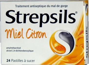 Strepsils miel citron