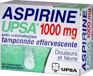 Aspirine UPSA Tamponnée effervescente 1000 mg