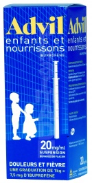 Advil enfants et nourrissons 20 mg/1 ml