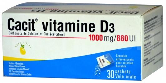Cacit Vitamine D3 1000 mg/880 UI