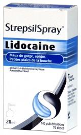 Strepsilspray (à la lidocaïne)