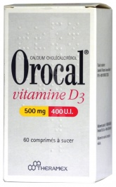 Orocal Vitamine D3 500 mg/400 UI