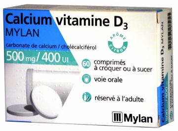 Calcium vitamine D3 Mylan 500 mg/400 ui