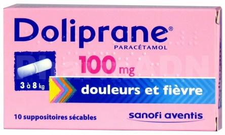 Doliprane 100 mg