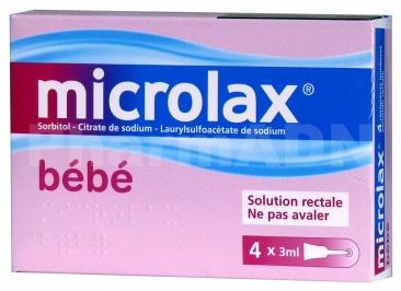 Microlax bebe sorbitol citrate et laurilsulfoacetate de sodium