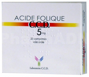 Acide folique ccd 5 mg