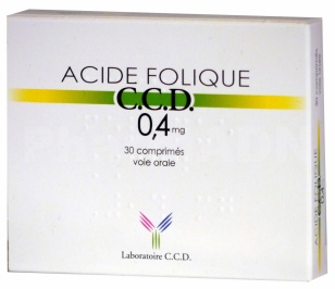 Acide folique ccd 0,4 mg