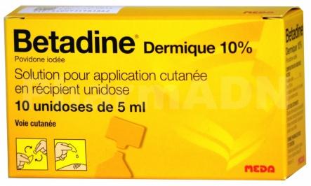 Bétadine dermique unidoses 10 %
