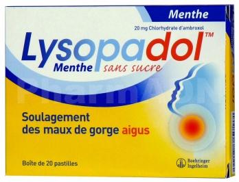 Lysopadol - Menthe Sans Sucre