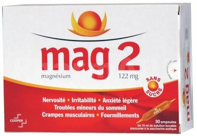 Mag 2 sans sucre 122 mg