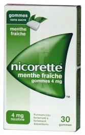 Nicorette menthe fraiche 4 mg sans sucre