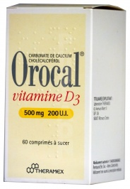 Orocal Vitamine D3 500 mg/200 UI