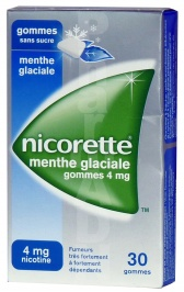 Nicorette menthe glaciale 4 mg sans sucre