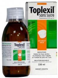 Toplexil 0,33 mg/ml sans sucre