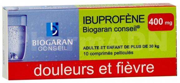 Ibuprofene biogaran conseil 400 mg