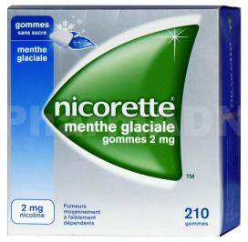 Nicorette menthe glaciale 2 mg sans sucre