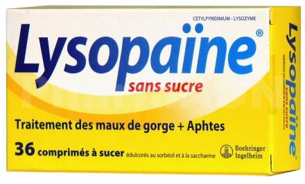 Lysopaïne - Sans sucre